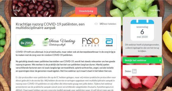 Afbeelding voor Webinar van Haarlemse dietist, fysiotherapeut en huisarts